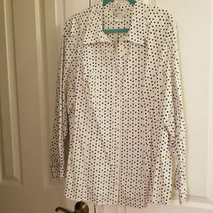 Button Down Seasonless Blouse or cover up/jacket
